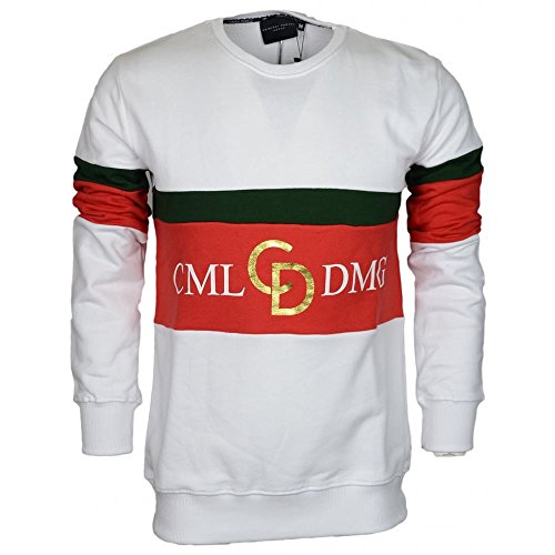 Criminal Damage Herren Oberteile / Pullover Dolfo Logo weiß L