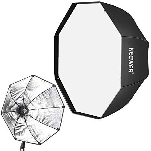 Neewer 31,5 Zoll / 80 Zentimeter achteckige Softbox mit E27 Fassung für Video Studio Speedlite, Studioblitze, Blitzlicht Softbox, Porträt und Produktfotografie (Lichtständer ist nicht enthalten)