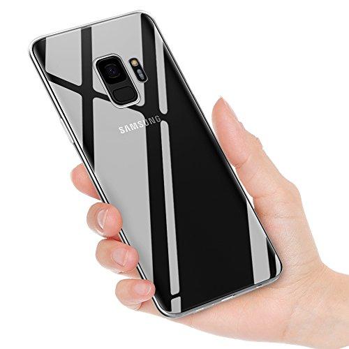 Yica Galaxy S9 Hülle, Crystal Clear Soft Flex Silikon Transparent Ultra Dünn Schlank Bumper-Style Backcover Handyhülle Case für Samsung Galaxy S9 Handyhülle