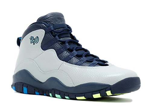 Jordan 10 Retro Big Kids Style, Wolf Grey/Photo Blue/Obsidian/Green Glow, 7 (Jordan Nike Glow Green Air)