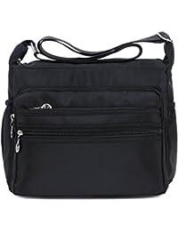 Women's Multi-Pocket Casual Crossbody Handbags Waterproof Shoulder Nylon Bags