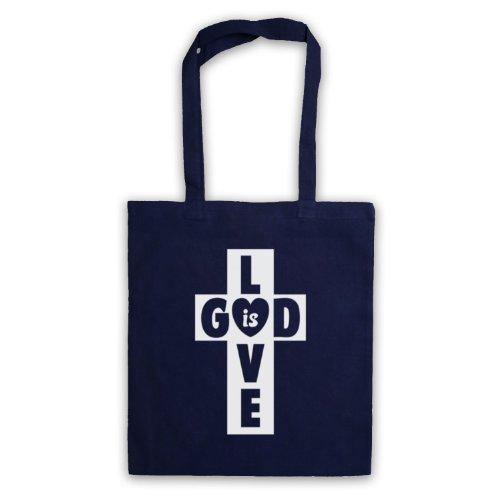 God Is Love Borsa a croce Blu navy