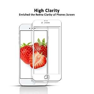pavoscreen incurvé bord Anti espion Protection d'écran en verre trempé pour Apple iPhone 6Cadre couleur: blanc
