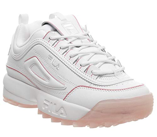 Fila Mujer Disruptor II Ice Leather Synthetic White Peony Entrenadores 39.5 EU