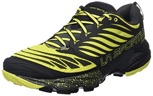 La Sportiva Akasha Trail Running Calzado para Hombre, Multicolor (Negro/Sulphur), 44.5 EU