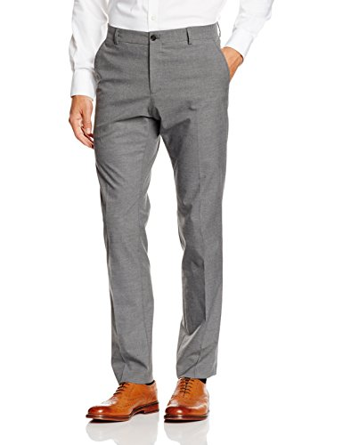 Relaxed Fit Anzug (SELECTED HOMME Herren SHDNEWONE-MYLOLOGAN1 GREY TROUSER NOOS Anzughose, Grau (Medium Melange), 46)