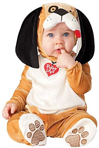 Kostüm Baby Love Puppy - Fancy Me Baby Jungen Mädchen Charakter Deluxe Welpe Tier Halloween Weihnachten Fotoshooting Kostüm Kleid Outfit - Braun, 6-12 Months