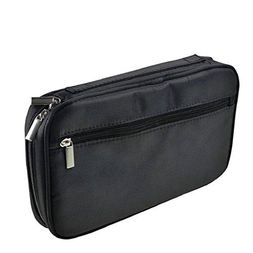 Kangrunmy Trucco Pocket Brush Cosmetic Bag Strumento Pennello Nero
