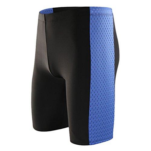 Baymate Herren Badehosen Spleißen Badeshorts für Männer Große Größen Schwimmhose Kurze Hose Stil 1