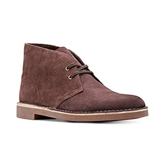 CLARKS Mens Bushacre 2 Fabric Closed Toe Ankle Fashion, Brown Cord, Size 9.0