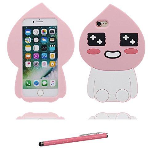 """iPhone 7 Plus Coque, Étui Cover Housse pour iPhone 7 Plus Cartoon 3D ours bear en Gel TPU Shell iPhone 7 Plus Case (5.5"""") Résistant à la poussière Scratch et stylet # 1"""