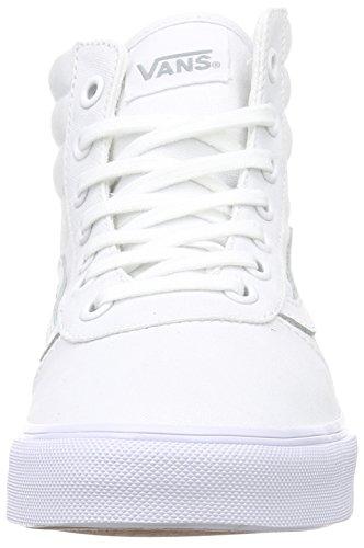 Vans Milton Hi - Scarpe da Ginnastica Basse Donna, Bianco (canvas/white/white), 34.5 EU Bianco (canvas/white/white)