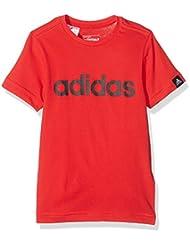 adidas Yb Ess Lin Tee - Camiseta para niños de 11-12 años, color rojo