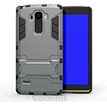 LG G4 Stylus / G4 Note / G Stylo Funda, Cocomii Iron Man Armor NEW [Heavy Duty] Premium Tactical Grip Kickstand Shockproof Hard Bumper Shell [Military Defender] Full Body Dual Layer Rugged Cover Case Carcasa LS770 H631 MS631 (Gray)