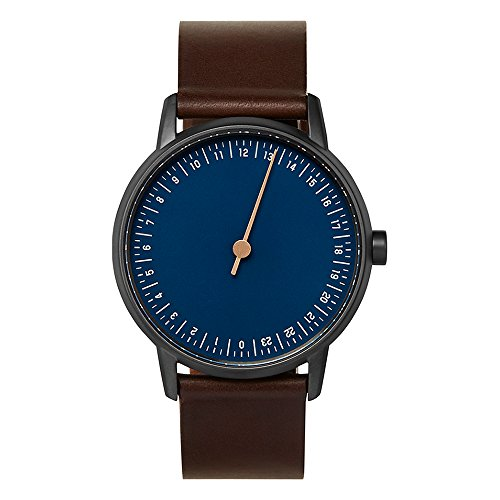 slow Round 03 - Dark Brown Leather, Anthracite Case, Blue Dial