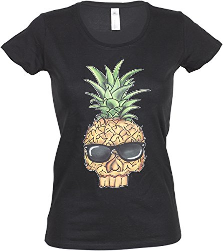Küstenluder Damen Oberteil Pineapple Skull Ananas Shirt Mehrfarbig 4XL