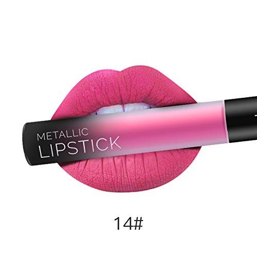 KAYI Traumfarbe Runden Tube Lip Gloss - Matte Velvet Wildleder Lip Glaze - Nackte Pink, Retro Rot, Kürbis Rot, Koralle Rot, Respberry -