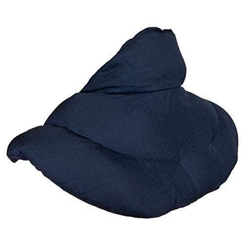 Coussin de nuque avec col montant l Bleu foncé l Coussin aux graines de lin l Coussin épaules et cou