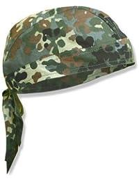 Bandana militaire préformé US Army - Flecktarn Camouflage - Serrage ajustable - Airsoft - Paintball - Moto - Biker - Outdoor