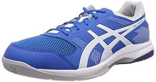 Asics Herren Gel-Rocket 8 Multisport Indoor Schuhe, Blau (Racer Blue/White 401), 42 EU (7.5 UK) -