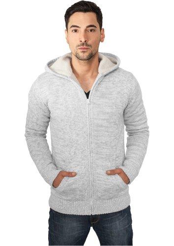 Urban Classics TB408 Winter Knit Zip Hoody Felpa Cappuccio Uomo