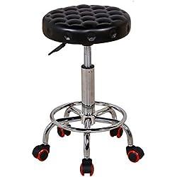 WLG Seat Chair-Bar Chair Chaise Ronde Surface en Similicuir + Coussin en éponge Rebound Tabouret de Bar Po Poignée de Levage Tabouret Haut Chaise de Bar 360 Deg; Rotation Autour du Tabouret de Beaut