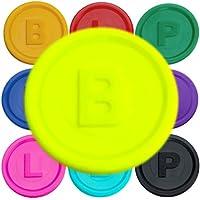 SchwabMarken 100 Marcadores Fichas con -B-, P- o -L- en 14 Colores Neon-GE B