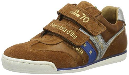 Pantofola d'Oro - Vasto Ragazzi Velcro Low, Pantofole Bambino Marrone (Tortoise Shell)