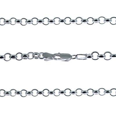 Argento sterling 50,8cm rotonda Link Belcher catena 25g