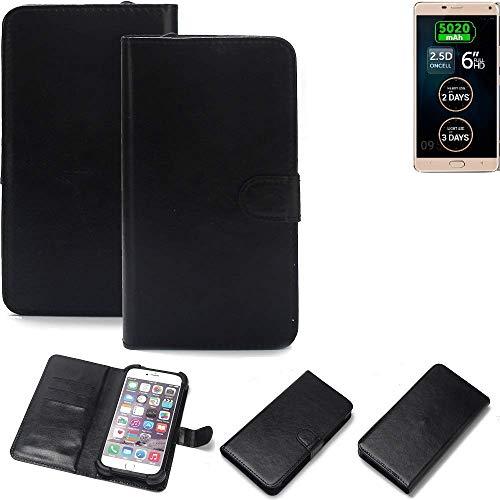 K-S-Trade Wallet Case Handyhülle für Allview P8 Energy Pro Schutz Hülle Smartphone Flip Cover Flipstyle Tasche Schutzhülle Flipcover Slim Bumper schwarz, 1x