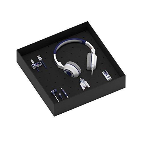 Preisvergleich Produktbild Tribe Star Wars Geschenkbox inkl. USB Stick 16 GB, Micro USB Kabel, KFZ Auto Ladegerät, In-Ear Ohrhörer und On-Ear Kopfhörer mit Mikrofon - R2D2