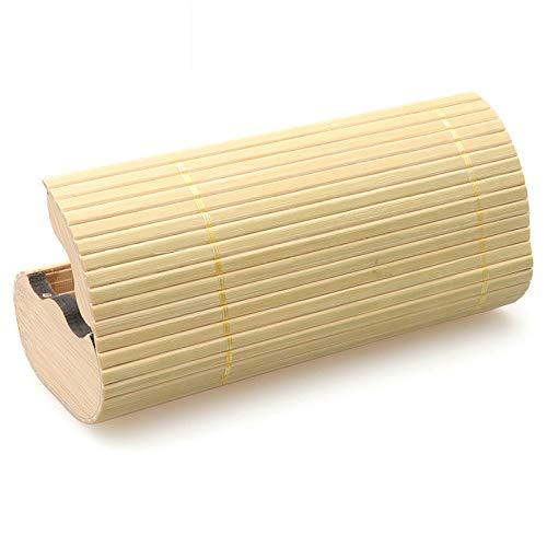 WEILIVE Männer Frauen handgemachte Bambus Sonnenbrille Box Brillenetui Halter