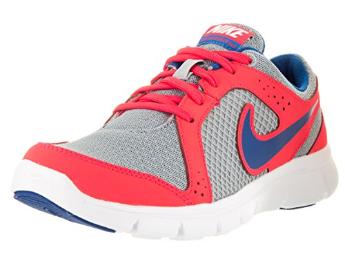 Nike Flex Experience (Gs), Scarpe da Corsa Bambino Grigio / Blu (Wlf Gry / Mltry Bl-Lsr Crmsn-Mlt)