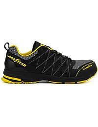 Goodyear GYSHU1502A_BL/YE_3/36 S1P SRA HRO -Calzado de seguridad, negro/amarillo