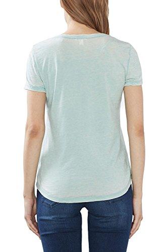 ESPRIT Damen T-Shirt 027ee1k021 Grün (Light Aqua Green 390)