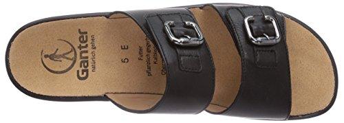Ganter Sonnica, Weite E, Chaussures de Claquettes femme Noir - Noir (0100)