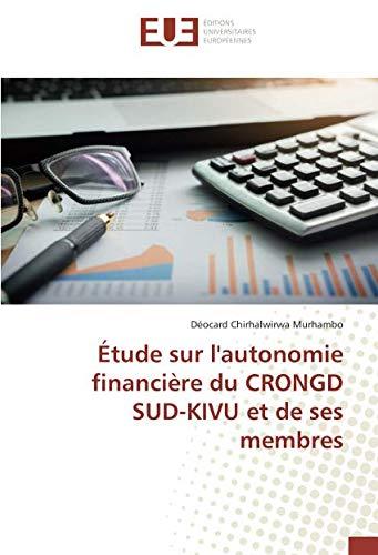etude sur l'autonomie financiere du CRONGD SUD-KIVU et de ses membres