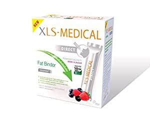 XLS Medical Fat Binder Direct  Weight Loss Aid,Berry Flavour - 10 Day Trial Pack, 30 Sachets