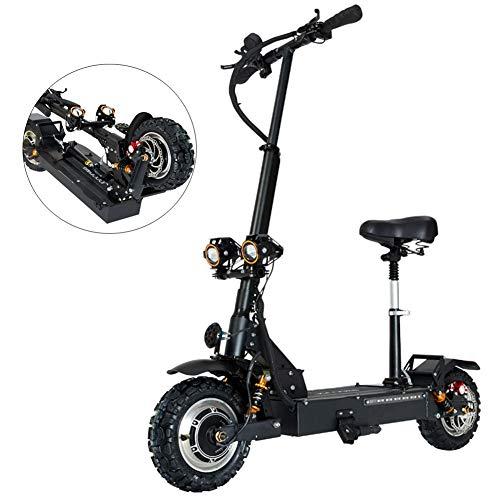 URCAR 3200 W, 60 V, 80 km/h Elektroroller 11 Zoll faltbares elektrisches Fahrrad für Erwachsene Reisen bis zu 30 Meilen Reichweite -