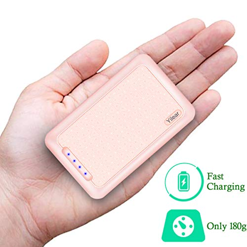 10000 mah Mini Power Bank Quick Charge, Mini Batteria Caricabatterie Portatile con Type C e Due Porte USB di 2.4A, Ingresso di 2.4A,Ricarica per Iphone, Samsung, Huawei, Xiaomi e Altri Smartphone