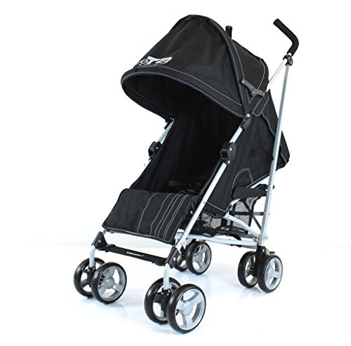 ZeTa Vooom Stroller Buggy Pushchair (Many Colours Available) Inc Raincover (Black)