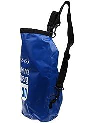 MagiDeal Bolsa Seca Impermeable Artículos Accesorios Deportivo Acuático Actividades Aire Libre Duradero Flexible Ajustable Cómodo de Usar Llevar Compacto Ligero - Azul, 20L