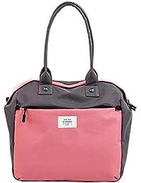 Black Temptation [Pink] Simple Style Travel Tote Bag Duffel Bag Handbag Sports Shoulder Bag
