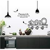Florenz Leben entfernbare Wandaufkleber Küche Restaurant Tee Tasse Schrank dekorative Abziehbilder Wandbilder
