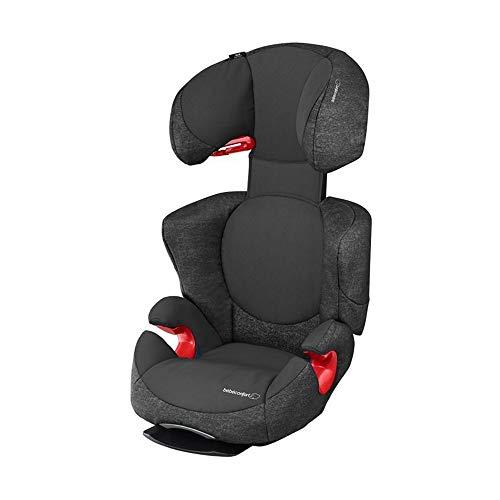 Bébé Confort Rodi AirProtect Seggiolino Auto 15-36 kg, Gruppo 2/3 per Bambini dai 3.5 ai 12 Anni, Reclinabile, Dispositivo di Ancoraggio per Elevata Stabilità, Nero (Nomad Black)