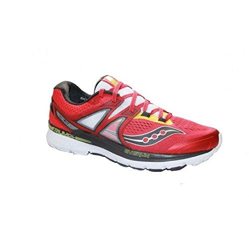 Saucony Triumph ISO 3, Scarpa da Running Uomo (43, Rosso (White/Red/Yellow))