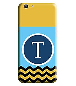 HiFi Designer Phone Back Case Cover Vivo Y53 :: VivoY53 ( T Alphabet Colorful Pattern Design Mustache )