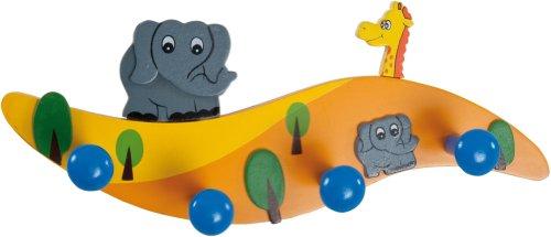 Bieco 23-115430ex - Kinder Garderobe Neue Welle, Elefanten