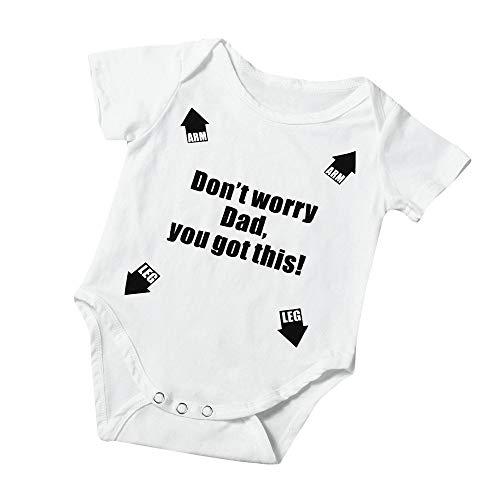 TTLOVE Neugeborenes Baby MäDchen Brief Print Spielanzug Overall Outfits Kleidung Schlafanzug Unisex Bekleidungs Anwendbar SchneeanzüGe Winter Gemischte Farbe Bodysuit ()