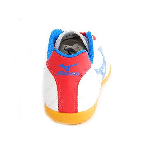 Mizuno - Mizuno scarpe calcetto indoor uomo Fortuna 4 IN Bianco Rosso Blu 36967 Bianco